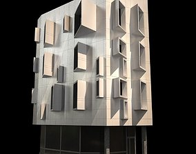 Modern Corner Building 3D model