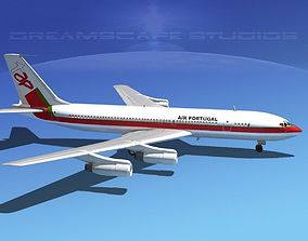 3D Boeing 707 Air Portugal