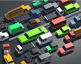 3D model Low Poly Toon type Cars Pack with 10 plus