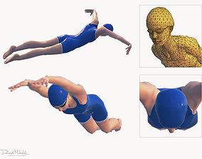 Female Swimming Butterfly Style 3D model