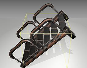 Futuristic Stairs - 26 - Rusty Textures 3D model