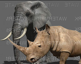 African heavy pack - 3d model animated