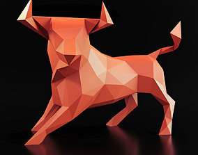 Bull Pose Low Poly 3D asset