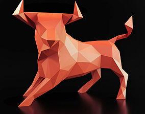 Bull Pose Low Poly 3D asset