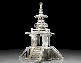 3D model Korean stone pagoda