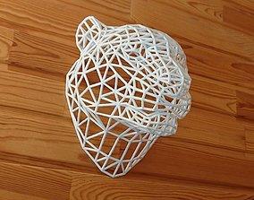 3D print model WireFrame Tiger Head