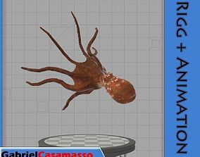 3D model animated Octopus