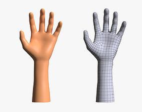 Human Hand Basemesh 3D asset