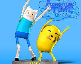3D printable model statue Finn and Jake