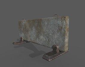 Concrete Barrier 3D model rigged