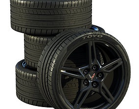 Chevrolet Corvette C8 2020 wheels 3D