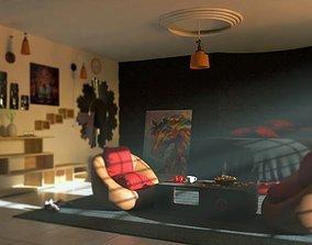 3D model VR / AR ready Fully Furnished Luxury Room