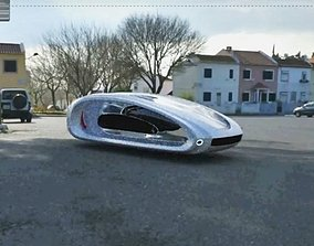 Free Future sci-fi car vehicle 3D model