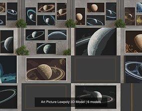 black Art Picture Lowpoly 3D Model