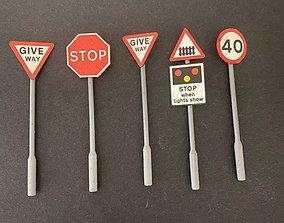 ROAD SIGN POSTS 7MM SCALE O GAUGE MODEL RAILWAY