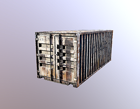 game-ready Container 3d Model PBR Game Ready
