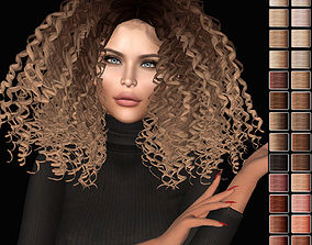 Female hair style rigged rigged game-ready 2