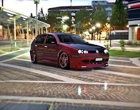 3D asset Volkswagen VW MK Golf 4 R32 BlackEdition