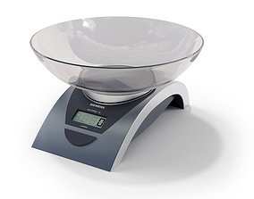 Silver Kitchen Scale 3D