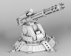 3D print model Stationary minigun