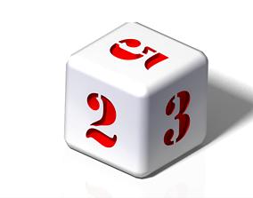 3D print model numeric dice