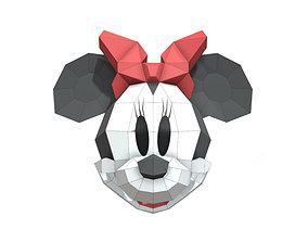 3D asset Minnie Mouse mask