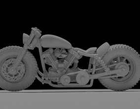 3D printable model 1 to 24 scale custom motorcycle