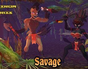 3D asset Acheron Savage Outfit
