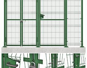 3D panel fence model
