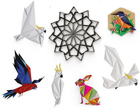 3D model Origami Sculpture Collection