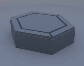 3D printable model hexagon paving stone mk2