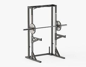 3D Technogym Pure Olympic Half Weight Rack