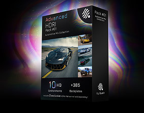 3D model 10 HDRI Advanced Pack 01 - Automotive Mix 1