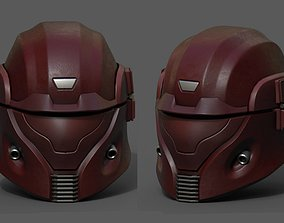 3D asset Helmet scifi pilot fantasy futuristic space 1
