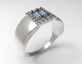 3D printable model Ring Baguette STL