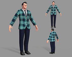 Business Suit Man 3D model