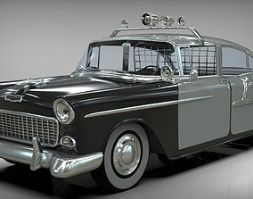 Police car Belair sedan 1955 3D model