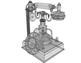 3D model Retro Phone hall