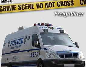 3D asset Freightliner NYPD Police Crime scene unit