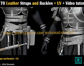 3D model 170-Leather-Straps-and-Buckles