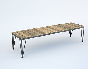 3D model Nomade Bench