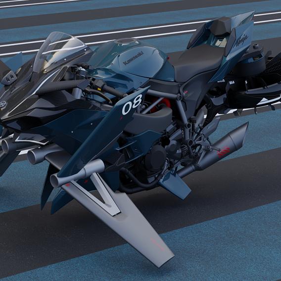 Kawasaki Ninja Hover H2r Concep