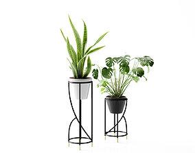 Standing Plant Pot Design 3D