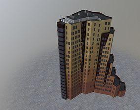 Amsterdam Teleport Towers 3D asset