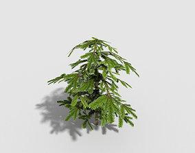 low poly shrub 3D asset realtime