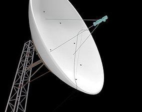 Satellite dish on pylon 3D