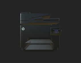 Hp printer 3d model game-ready