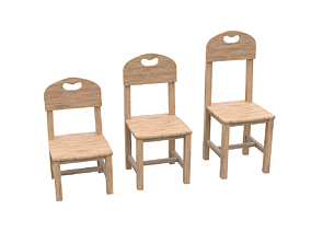 Chairs 3D asset VR / AR ready