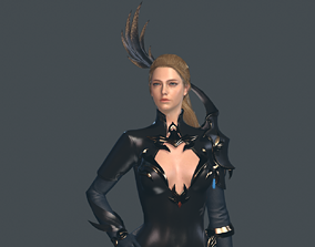 Mmo Character Woman 3D model