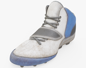 American Football Boots 3D asset low-poly